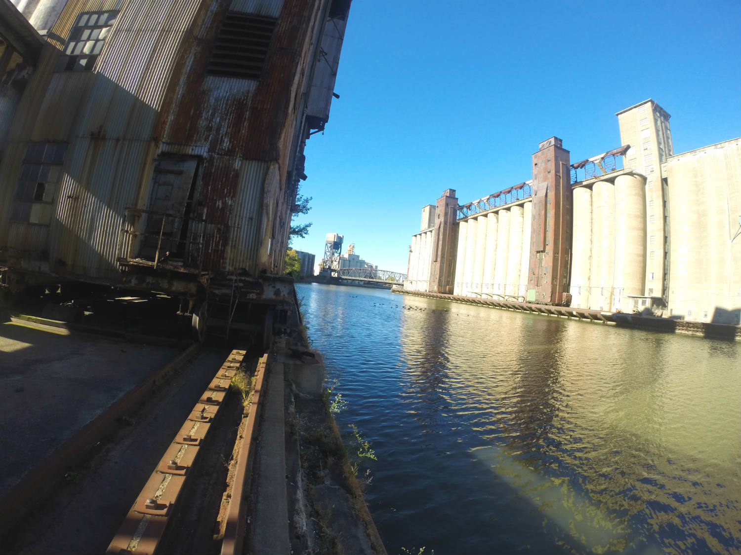Silo City River View and Marine Tower Tracks