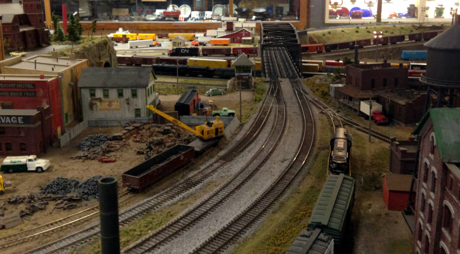 Model Railroad at Medina Railroad Museum in Medina, NY