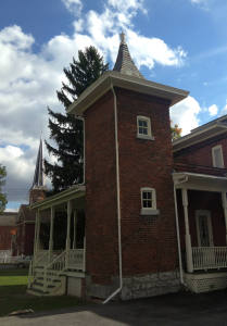 Howe House Museum's Two Story Outhouse in Phelps, NY