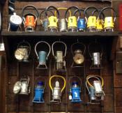 Lantern Collection at Medina Railroad Museum in Medina, NY