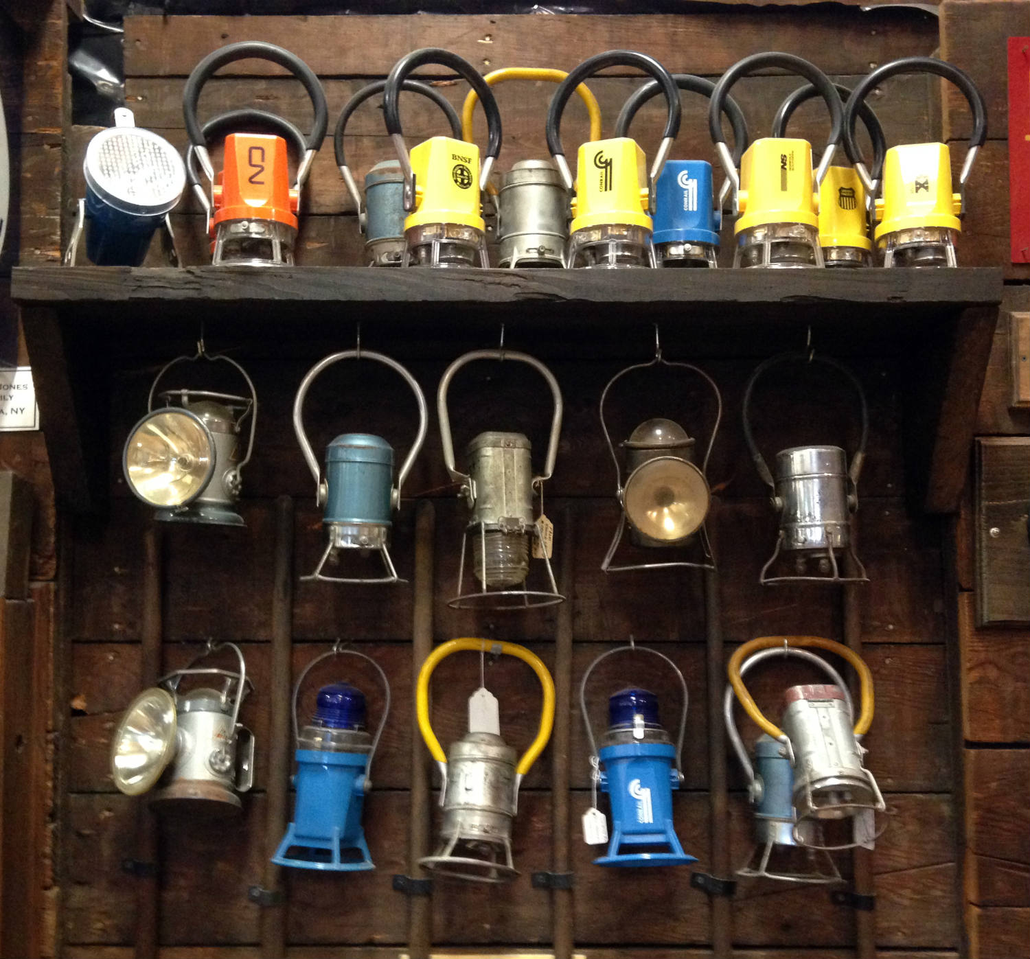 Lantern Collection at Medina Railroad Museum in Medina, NY