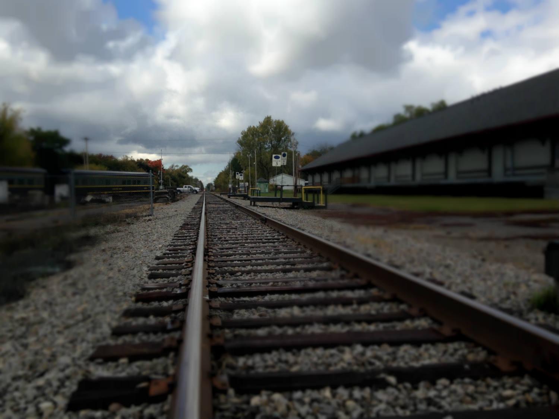 Falls Road Train Track and Depot in Medina, NY