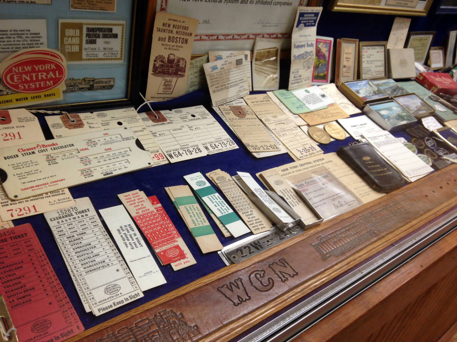 Railroad Ephemera at Medina Railroad Museum in Medina, NY