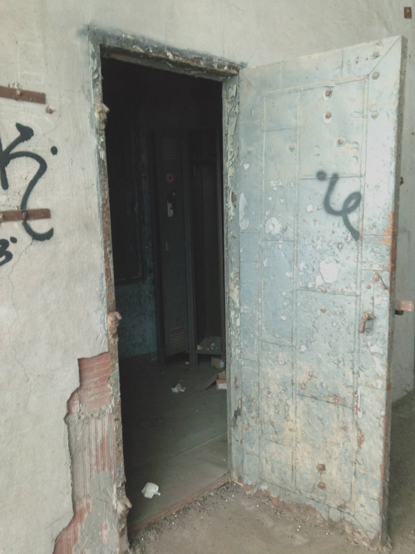 Creepy Door in American Silo; Buffalo, NY