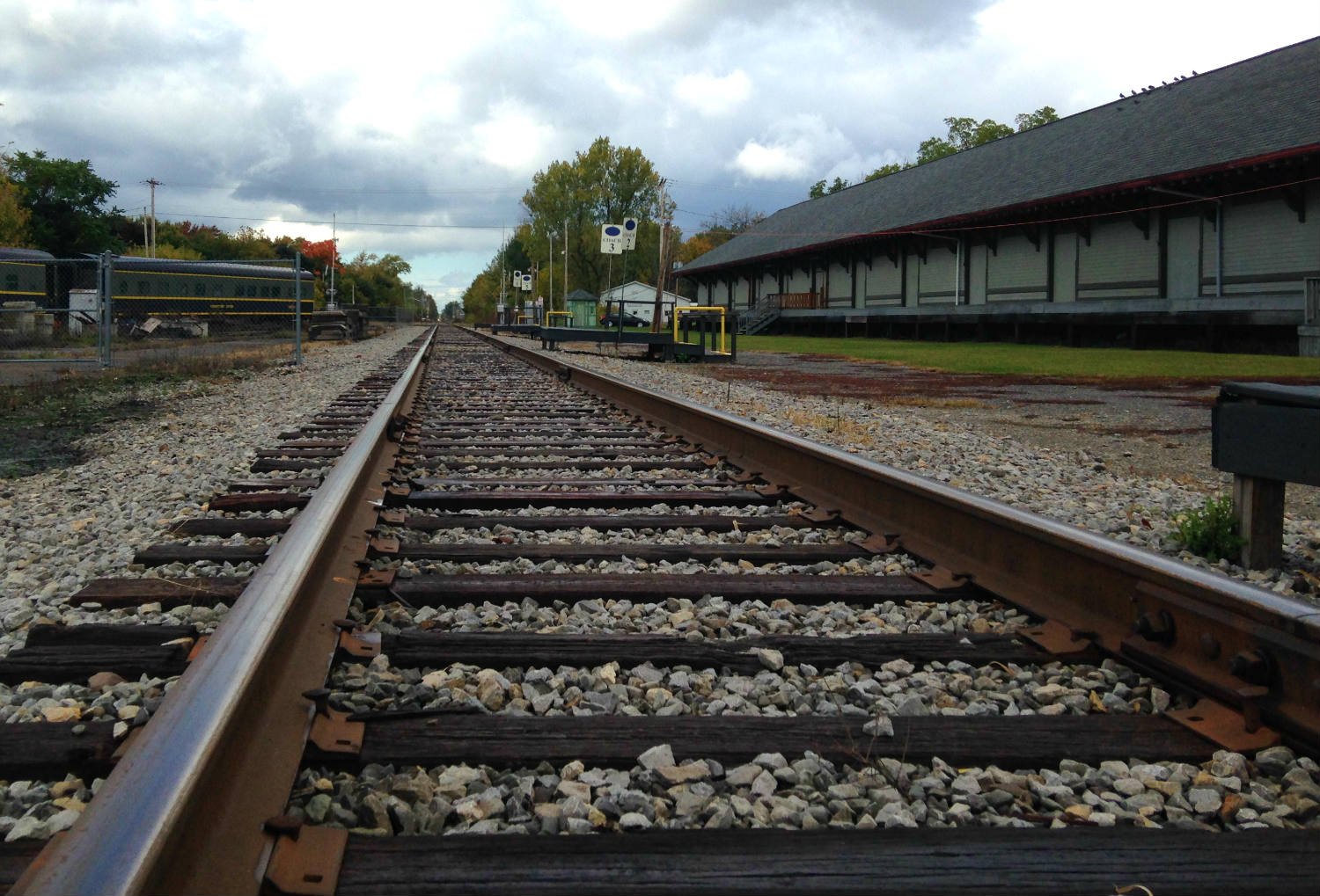 Falls Road Train Track and Depot in Medina, NY