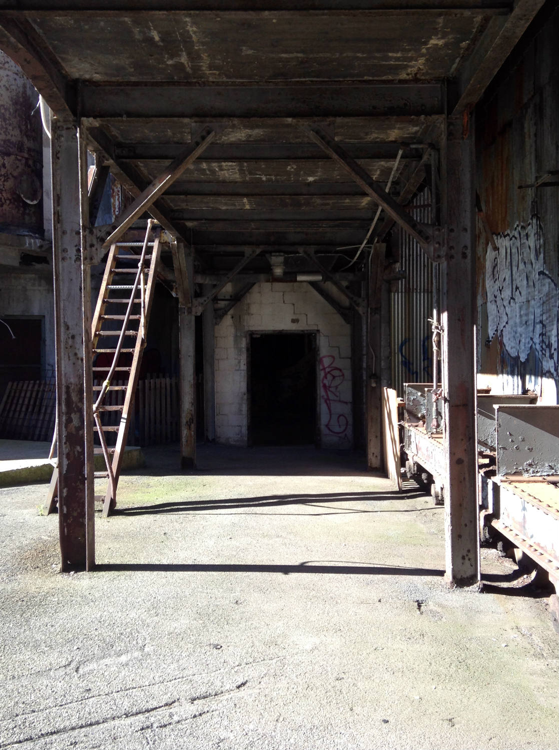 Doorway to American Silo in Buffalo, NY