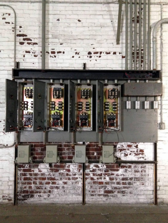Electric Breaker Boxes in the Perot Silo; Buffalo, NY