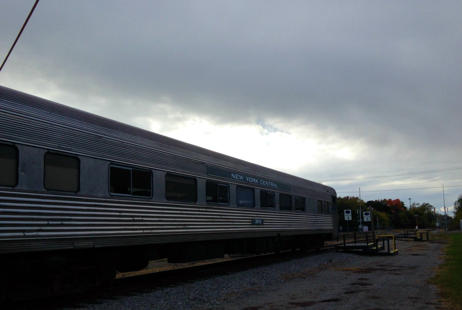 New York Central 1947 Budd Coach Car Medina, NY