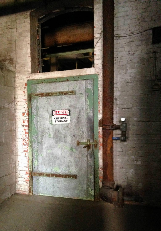 Chemical Storage Door in Silo City; Buffalo, NY