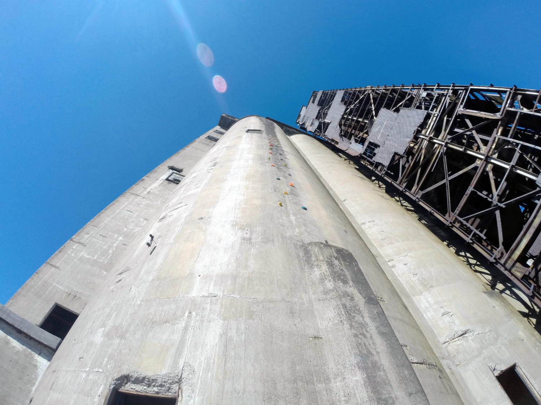 Repurposed Silo for Rock Climbing Tower in Buffalo