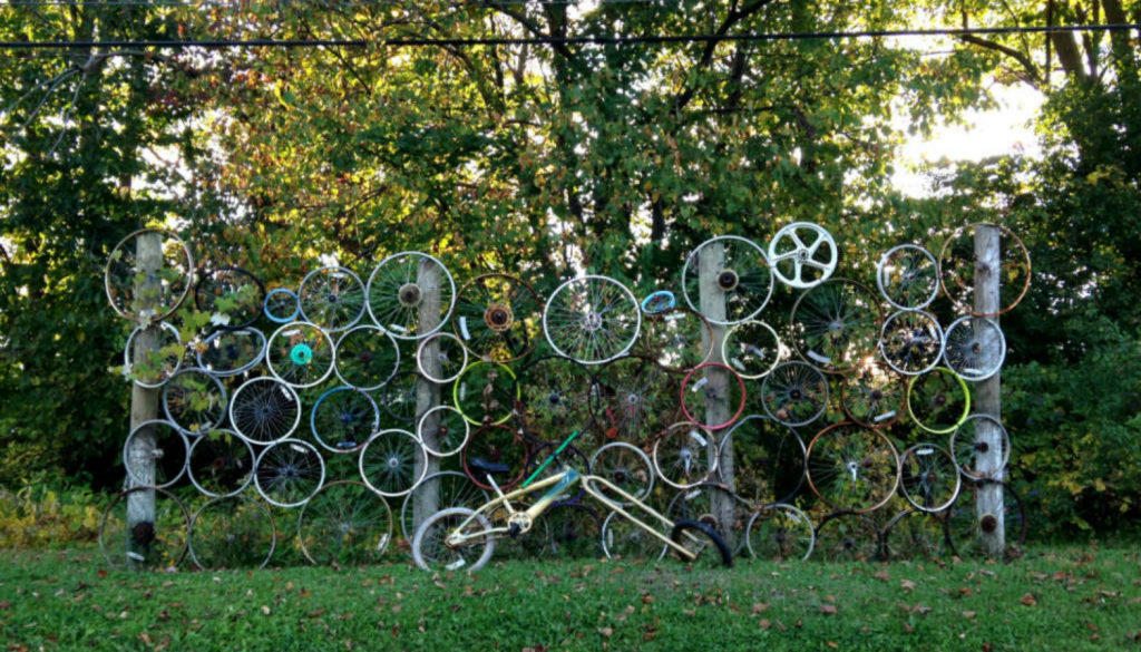 Bicycle Yard Art in Palmyra, NY - Featured Image