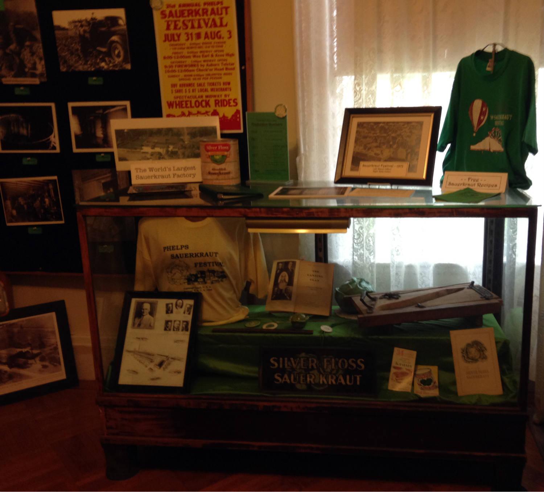 Sauerkraut Exhibit in Howe House Museum in Phelps, NY