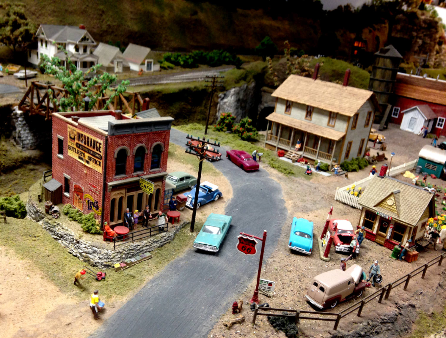 Town Scene Model Railroad at Medina Railroad Museum in Medina, NY