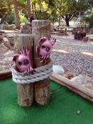 Waterfront Decor at Whispering Pines Mini Golf; Rochester, NY