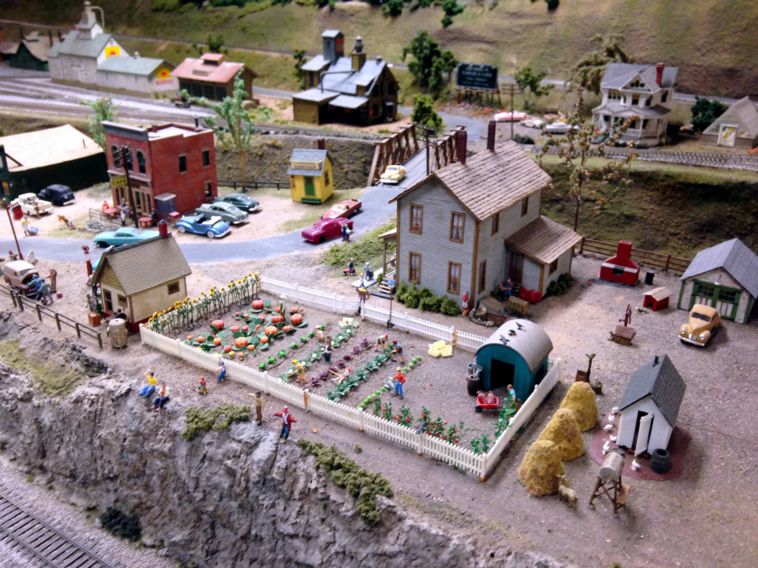 Farm Scene Model Railroad at Medina Railroad Museum in Medina, NY