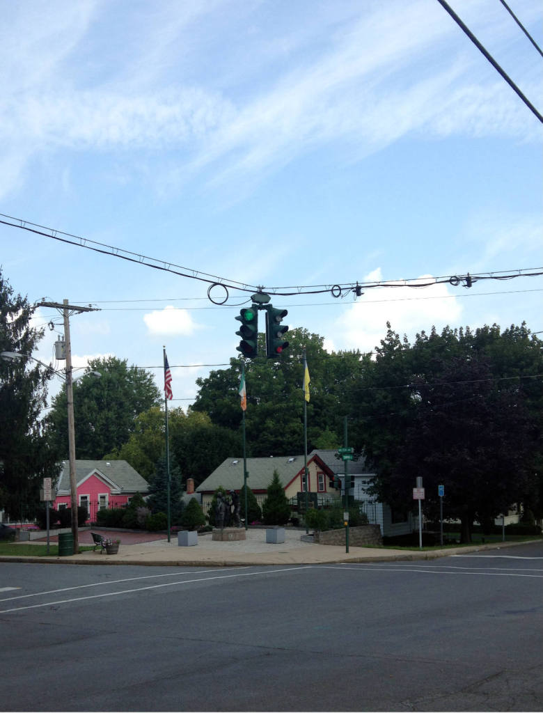 Upside Down Traffic Signal in Tipperary Hill
