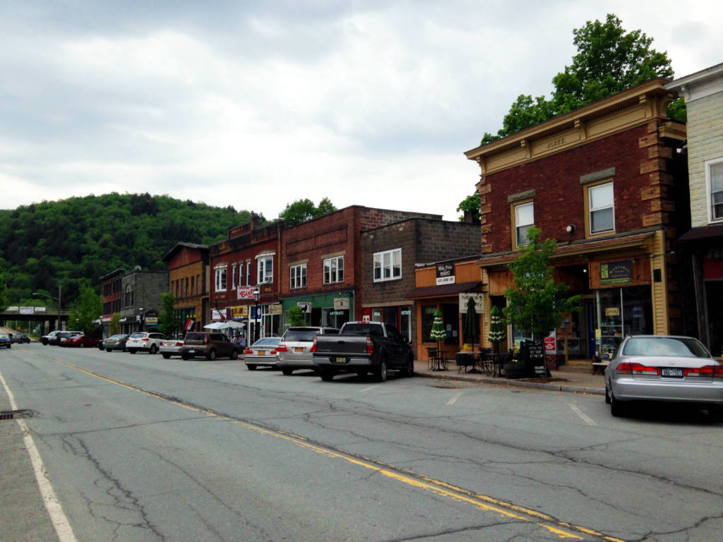 Main Street in Downtown Roscoe, NY near Agloe