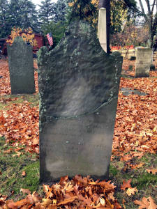 Headstone for Timothy (Hyne) Ryan, 2nd Known Bee Sting Death in U.S.