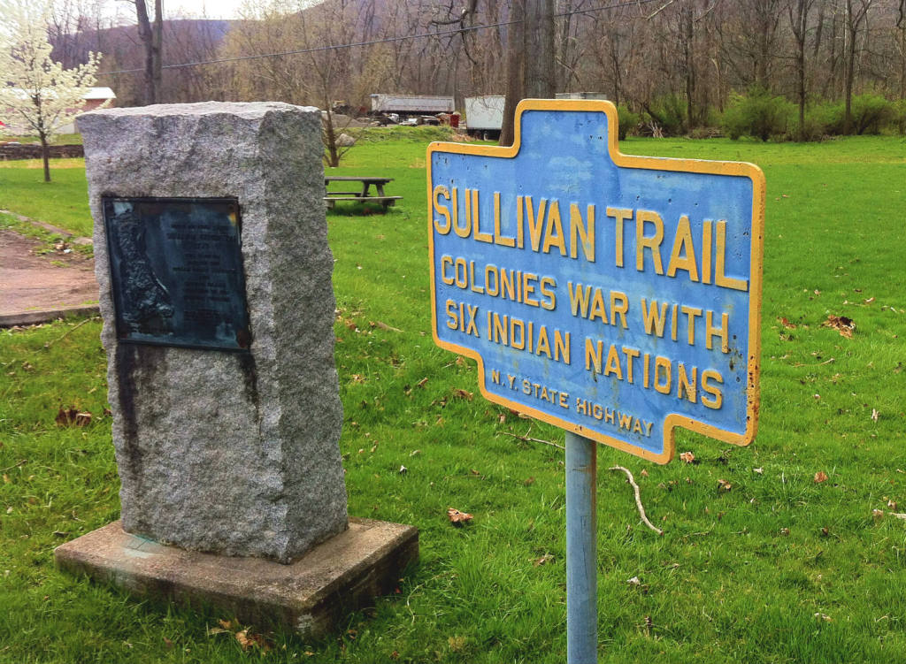 NY State Marker and Schuyler County Sullivan Memorial south of Montour Falls