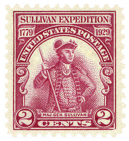 1929 2 cent Stamp to Commemorate the Sullivan Expedition