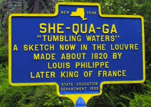 Historical Marker for She-Qua-Ga