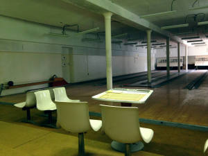 Bowling Alley in Basement of Hadley Hall at the Willard Asylum