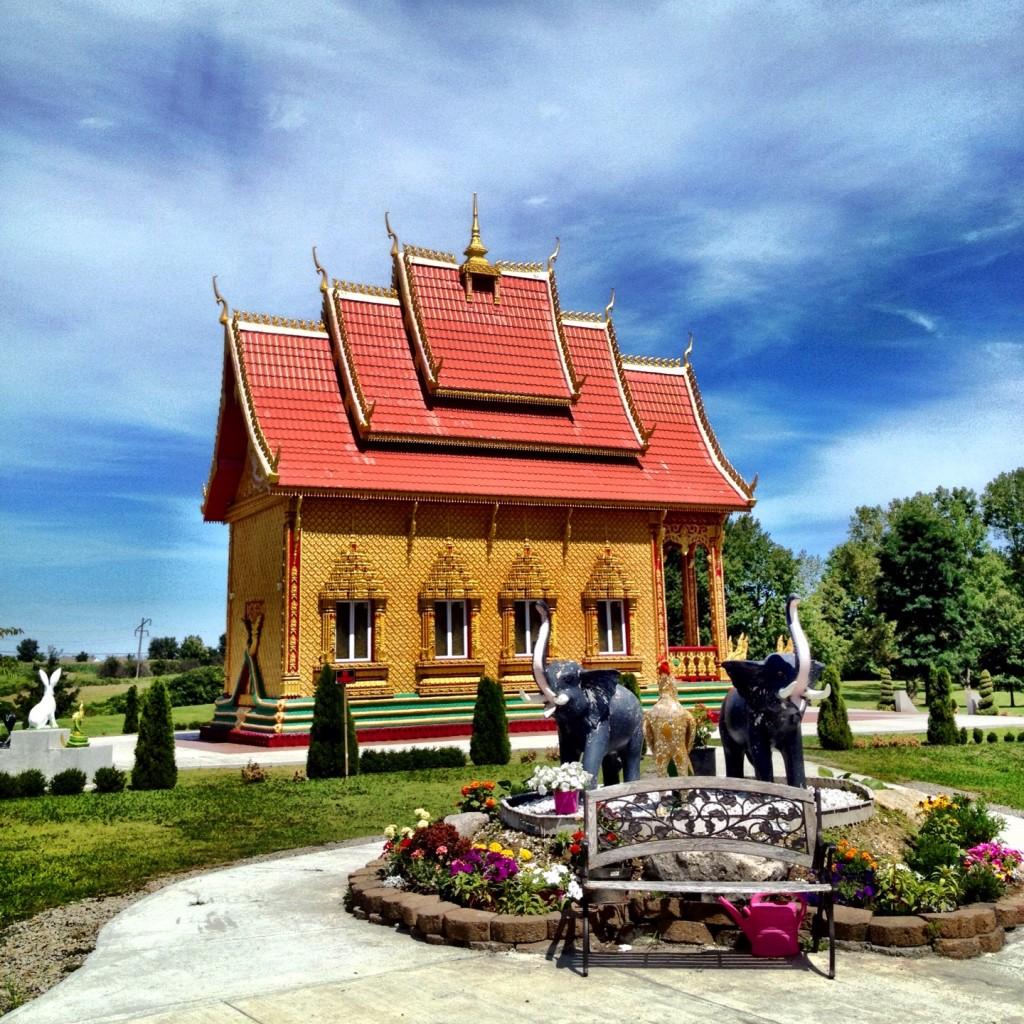 Wat Pa Lao Buddhadham in Rush, NY