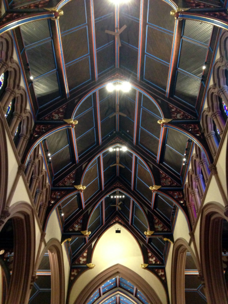 Ceiling arches in the sanctuary at St. Paul's Episcopal Church in Buffalo, NY