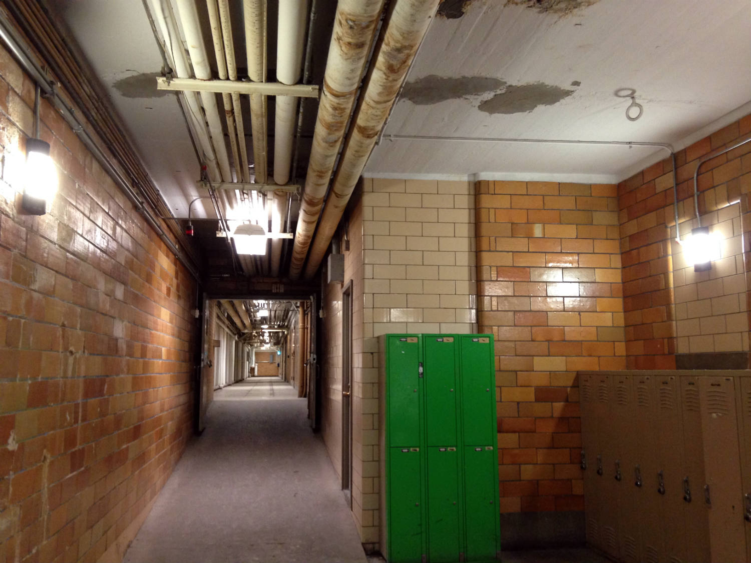 Tunnel System pipes at the University of Rochester