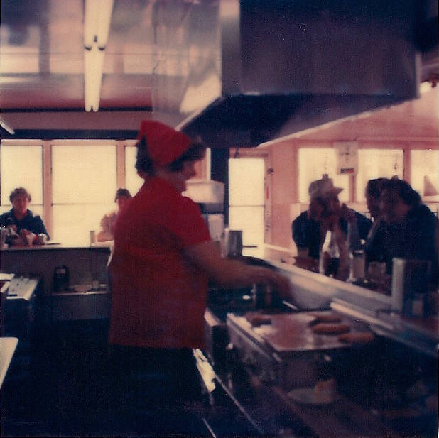 Delores Wandryk works the Pok-A-Dot Grill in the Early 1980's