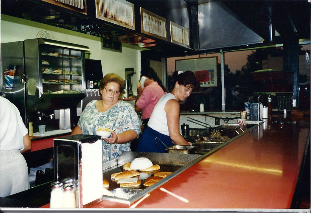 Margaret and Joann working at the Pok-A-Dot in Batavia, NY