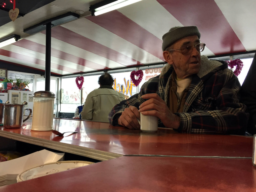 Man at the Counter in the Pok-A-Dot in Batavia, NY