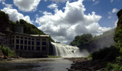 Lower Falls Gorge and Rochester Gas and Electric in Rochester, NY