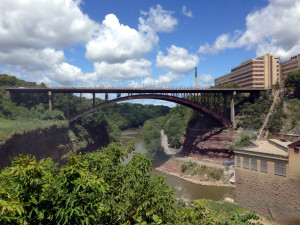 Driving Park Bridge over the Genesee River in Rochester, NY