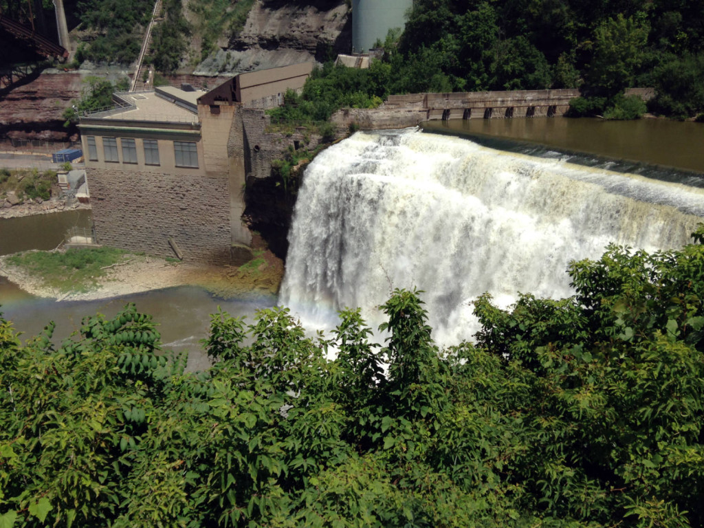 Lower Falls on the Genesee River in Rochester, NY