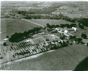 Aerial Photo of the Clifton Springs Sanitarium Company Farm