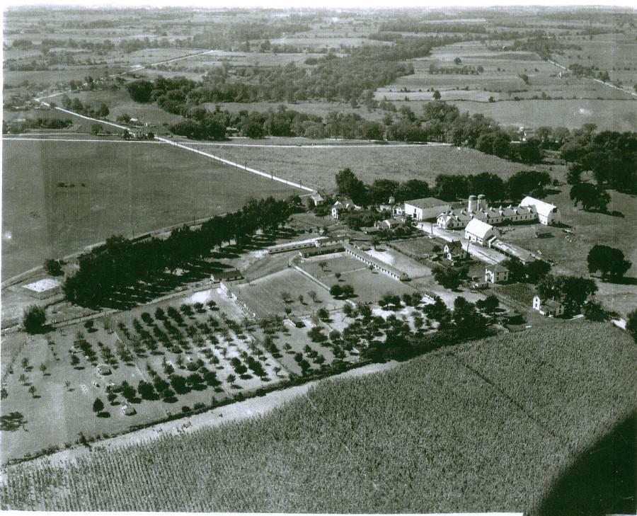 Aerial Photo of the Clifton Springs Sanitarium Company Farm