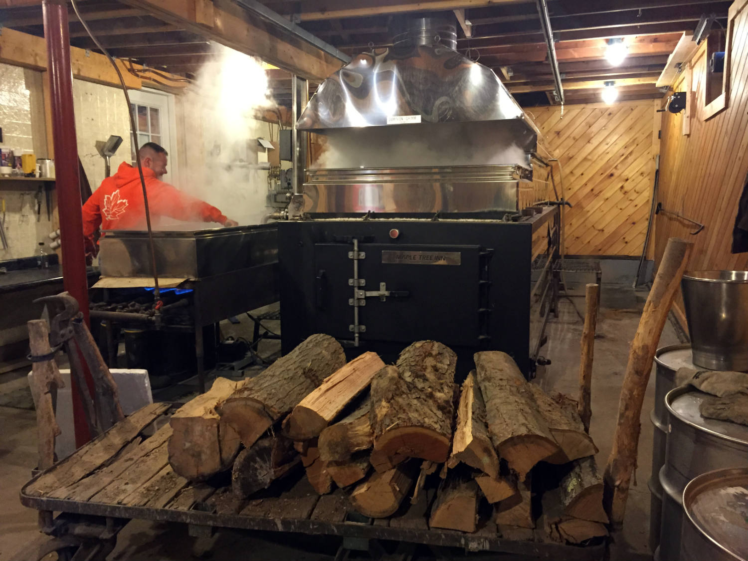 The Evaporator at the Maple Tree Inn in Angelica