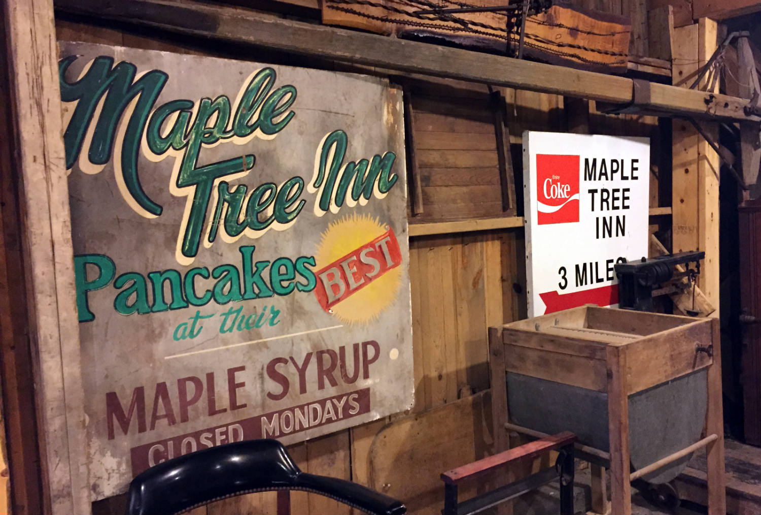 Old Maple Tree Inn signs in New York