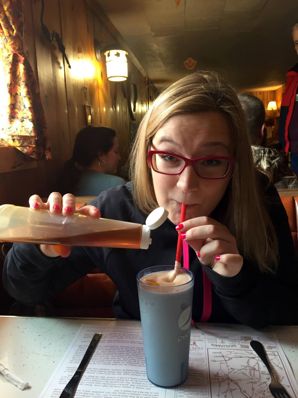 Aubrey Klingensmith and a Maple Syrup Milkshake