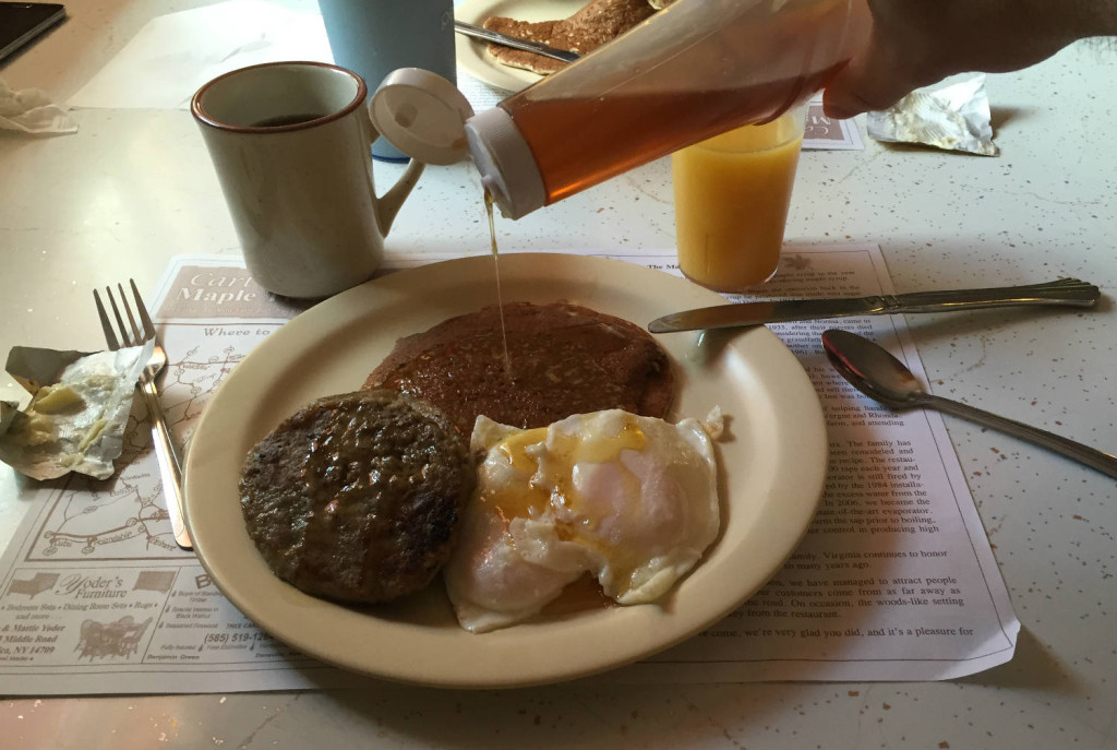 Breakfast at Cartwright's Maple Tree Inn in Angelica, NY