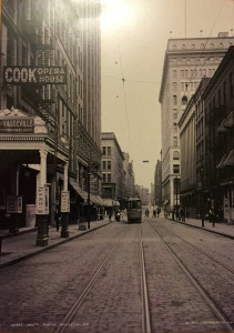 Postcard Featuring Rutz's Saloon Rochester, NY South Avenue 1906