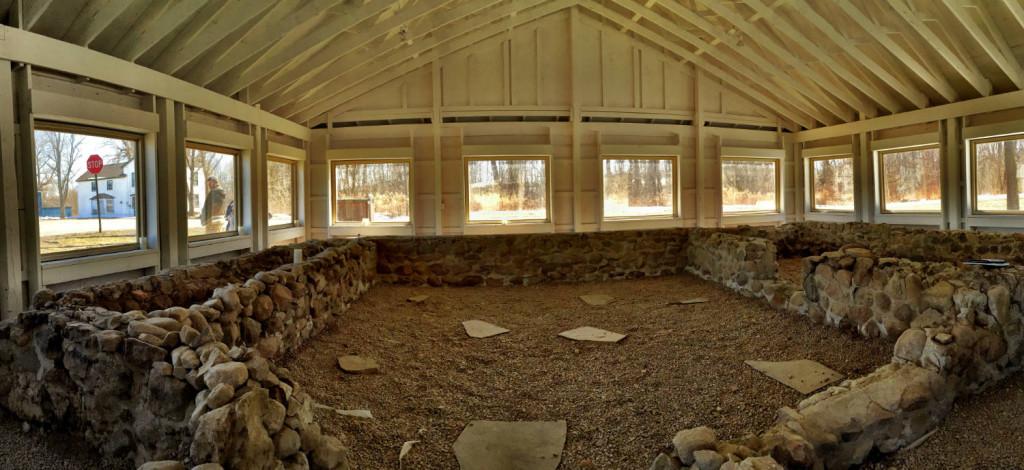 Inside the Hydesville Memorial Park stone base