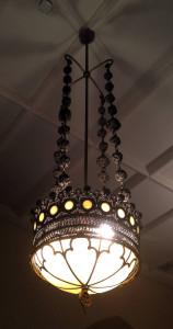 Hanging Light at First Presbyterian Church of Bath, NY