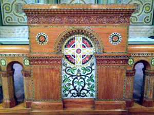 Woodwork and Mosaic Painting at First Presbyterian Church in Bath, NY