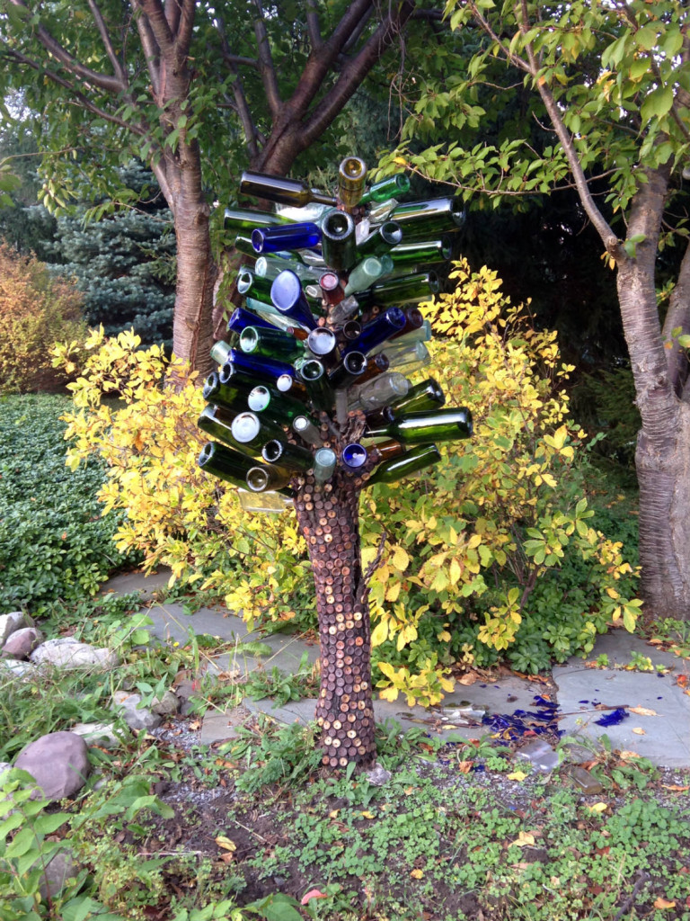 Metal Sculpture Wine Bottle Tree near West Bloomfield