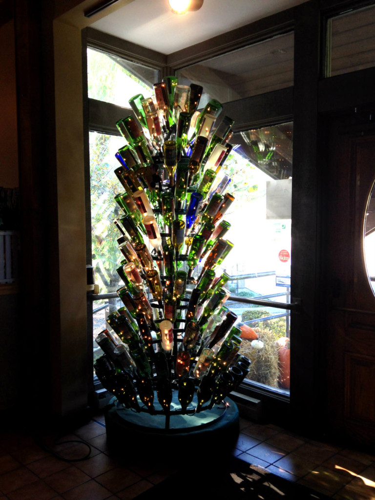 Wine Bottle Tree Inside Glenora Wine Cellars in Dundee, NY