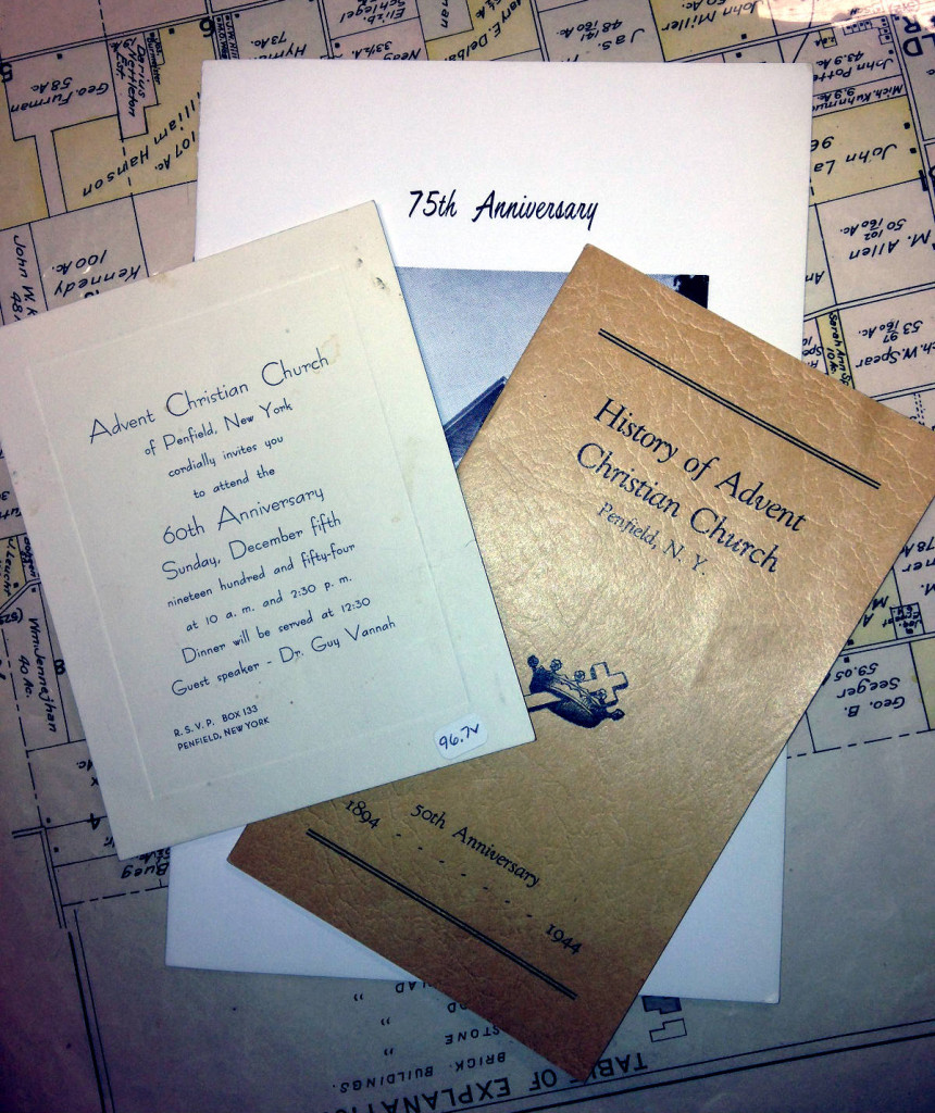 Historical Documents from the Advent Christian Church of Penfield history