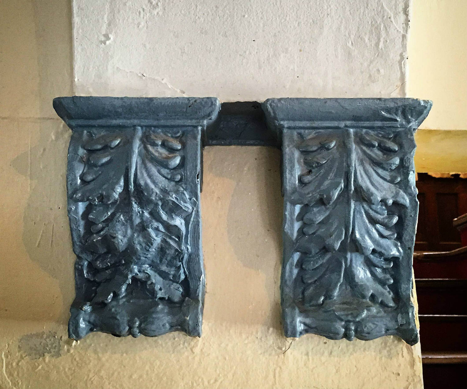 Decorative Corbels inside 304 Walnut Place in Syracuse, NY