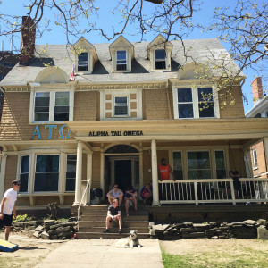 The Alpha Tau Omega House at 304 Walnut Place in Syracuse, NY